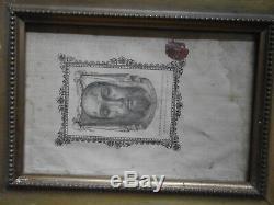 2 cadres religieux XIXème 1 doré Sainte face du CHRIST & 1 noir Crucifix