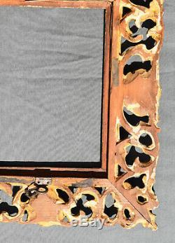 ANCIEN CADRE AJOURE LOUIS XV EN bois stuqué doré XIX ème
