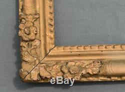 ANCIEN CADRE LOUIS XIV EN bois stuqué doré XVIII ème