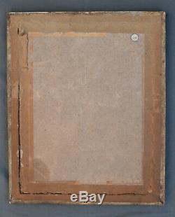 ANCIEN CADRE LOUIS XVI EN bois stuqué doré XVIII/XIX ème avec gravure