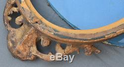ANCIEN CADRE OVALE EN bois stuqué doré style Louis XV XIX ème