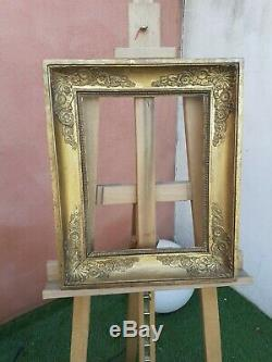 ANCIEN CADRE en bois doré a l'or époque Empire No 1