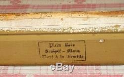 ANCIEN SUPERBE CADRE BOIS SCULPTÉ MAINS DORÉ A LA FEUILLE /FEUILLURE 50,5x40,6cm
