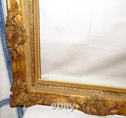 ANCIEN TRÈS BEAU CADRE MONTPARNASSE MONTAGE A CLÉ STYLE LOUIS XV POUR 51 x 41 cm