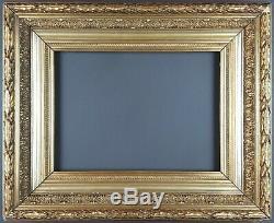 Ancien Cadre Barbizon Format 33 cm x 24 cm (4F) Doré Antique Frame Gilt Cornice