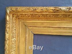 Ancien Cadre Barbizon Format 33 cm x 24 cm (4F) Doré Antique Frame Gilt Rahmen
