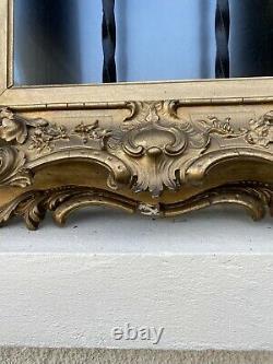 Ancien Cadre Bois Et Plâtre Doré Louis XV