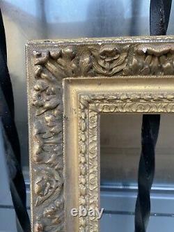 Ancien Cadre Bois Et Plâtre Doré Louis XVl