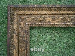 Ancien Cadre Bois Et Stuc Dore Feuillure 80,5 X 66,5 Frame French Antique