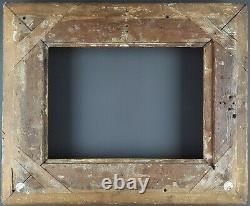 Ancien Cadre Empire XIXe Format 28 / 29 cm x 21 cm Doré Antique Frame Cornice