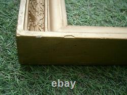 Ancien Cadre En Bois Dore Palmettes A Cles Feuillure 59 X 45,5 Frame Antique