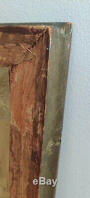 Ancien Cadre En Bois Sculpté Et Doré, Reproduction Jean Raoux