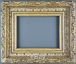 Ancien Cadre Format 21 cm x 16 cm (Proche 1F) Doré Antique Frame Gilt Cornice