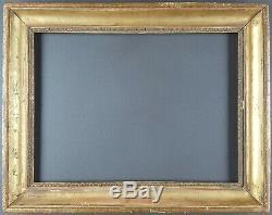 Ancien Cadre Format 32 cm x 24 cm (Proche 4F) Doré Antique Frame Gilt Cornice