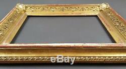 Ancien Cadre Format 33 cm x 24 cm (4F) Doré Antique Frame Gilt Cornice Rahmen