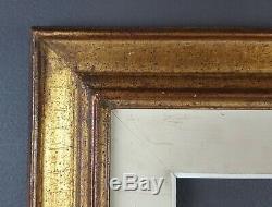 Ancien Cadre Format 34 cm x 24 cm Doré Antique Frame Gilt Cornice Rahmen