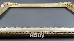Ancien Cadre Format 49 cm x 36 cm Doré Antique Frame Gilt Old Cornice Rahmen