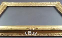 Ancien Cadre Format 66 cm x 45 cm (Proche 15M) Doré Antique Frame Gilt Cornice