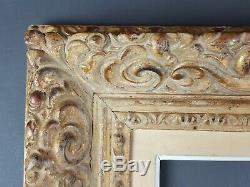 Ancien Cadre Format 70 cm x 60 cm Doré Antique Frame Gilt Old Cornice Rahmen