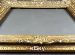 Ancien Cadre Louis XIV Format 61 cm x 48 cm Doré Antique Frame Gilt Old Cornice
