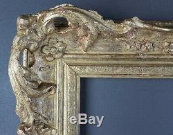 Ancien Cadre Louis XV Format 38 cm x 30 cm Doré Antique Frame Gilt Old Cornice