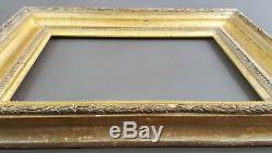 Ancien Cadre Louis XVI Format 38 cm x 29 cm Doré Feuille Antique Frame Gilt Old