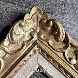 Ancien Cadre Montparnasse Bois Sculpté Doré Format 6F XXème Tableau Peinture