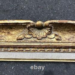 Ancien Cadre Montparnasse Louis XV Bois Sculpté Doré Format 12F Tableau Peinture