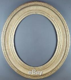 Ancien Cadre Ovale à Canaux Format 56 cm x 47 cm Antique Frame Cornice Rahmen