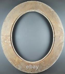 Ancien Cadre Ovale à Décors Format 61 / 62 cm x 50 / 51 cm Antique Frame Cornice