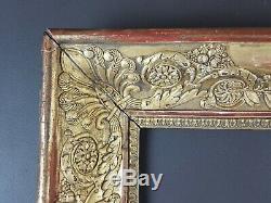 Ancien Cadre Restauration Format 51 cm x 42 cm Doré Antique Frame Gilt Cornice