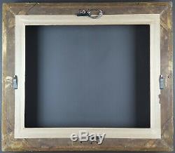Ancien Cadre XIXe Barbizon Format 46 cm x 38 cm (8F) Doré Antique Frame Cornice