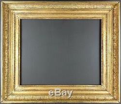 Ancien Cadre XIXe Empire Format 46 cm x 38 cm (8F) Doré Antique Frame Cornice