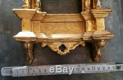 Ancien Cadre en Bois Doré Gothique Gothic Golden Frame