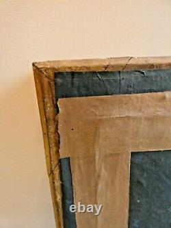 Ancien Grand Cadre Bois Dore A Palmettes Epoque Restauration France Vers 1820/30