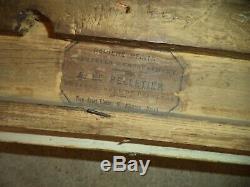 Ancien Grand Cadre Bois Stuc Dore Feuillure De 56,5 X 48 Frame Antique