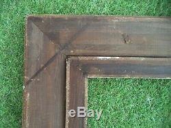 Ancien Grand Cadre En Bois Et Stuc Dore A Cles Feuillure 73,5 X 60,5 Frame