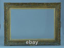 Ancien cadre Montparnasse bois sculpté doré Tableau ancien Marine format frame
