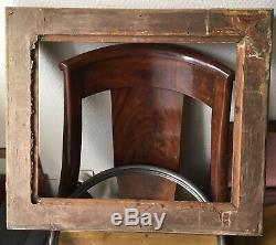 Ancien cadre à clés palmettes bois et stucs dorés EPOQUE EMPIRE Frame XIXe 19TH