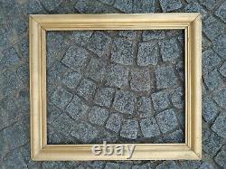 Ancien cadre baguette doré feuillure 66 cm x 55 cm frame gravure photo tableau