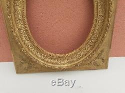 Ancien cadre dorè a l'or a vue ovale d'époque fin 19ème en bon état