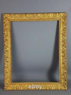 Ancien cadre doré décor feuillages, fleurettes 72x59 feuillure 59,4x47,4cm SB127