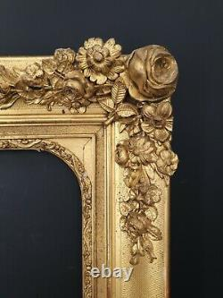 Ancien cadre doré, dorure d'origine Napoléon III