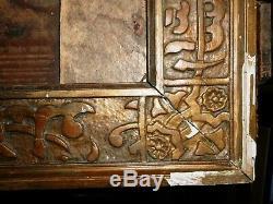 Ancien cadre mauresque en bois stuqué doré, Maroc, Algérie, XIXème