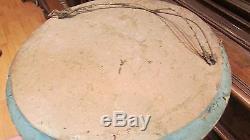 Ancien cadre medaillon ovale pour glace tableau doré epoque XIXe bois et stuc