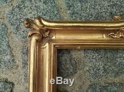 Ancien cadre montparnasse bois doré feuillure 36 cm x 30 cm peinture gravure