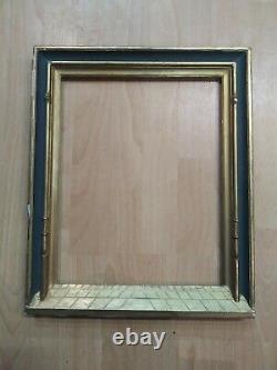 Ancien cadre symboliste bois doré feuillure 37 cm x 30 cm frame tableau gravure