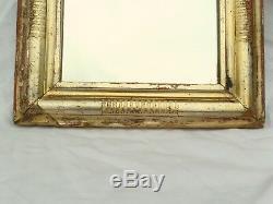 Ancien miroir Louis Philippe cadre en bois doré hauteur 49 cm XIXé n°708