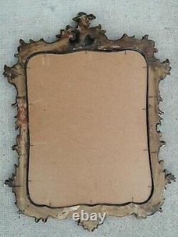 Ancien miroir style rocaille Louis xv bois doré carved wood mirror frame cadre