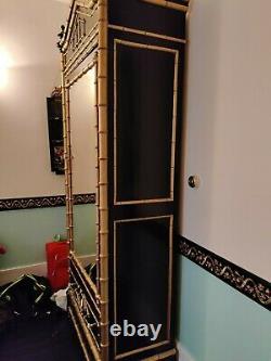 Armoire style Napoléon III noir et doré